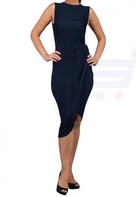 WAL G Italy Knot Tie Formal Dress Navy - WG 4184 - L