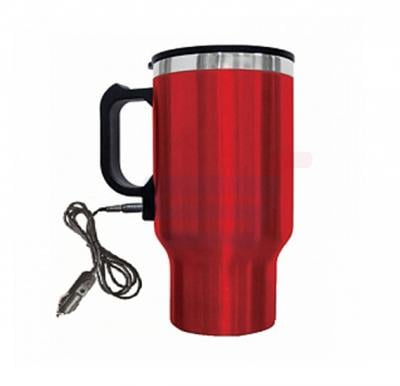 Olympia Stainless Steel Electric Car Mug, 140Z Red
