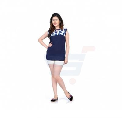 Modest Half Sleeve Top Blue Color - 93CL093 - XL