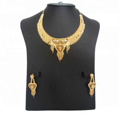Flora 22K Gold Plated Ladies Luxury Necklace Set