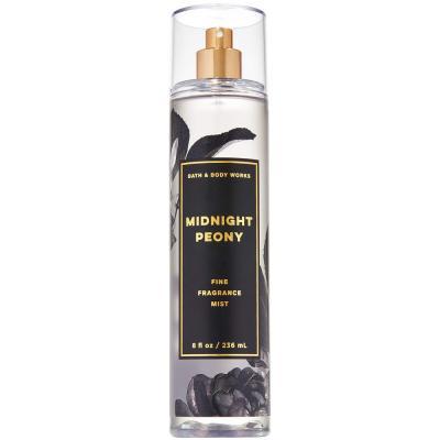 Bath and Body Works Midnight Peony  8 Fluid Ounce Fine Spray (2019 Limited Edition)