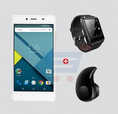 Bundle Offer! Kagoo T50 Smartphone, 3G, Android, 5.0 Inch LCD Display, 4GB Storage, 512MB RAM, Dual Camera, Dual SIM, Wifi -White & Get OEM Bluetooth Smartwatch + Esonstyle Z 530 40 Mini Ultra-small Stereo Bluetooth Earbud FREE