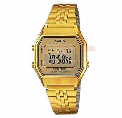 Casio LA-680WGA-9D Gold Tone Digital Ladies Watch