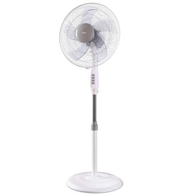 Clikon 16 Inch Stand / Pedestal Fan, 3 Speed Setting, Swing Function, Height Adjustability, White,  Ck2814-N