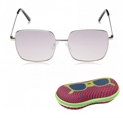 TFL Eyewear Square Women Sunglasses, 16492-Silver
