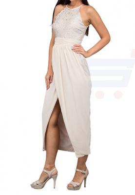 TFNC London Salma Midi Formal Dress Nude - EG 8501 - L