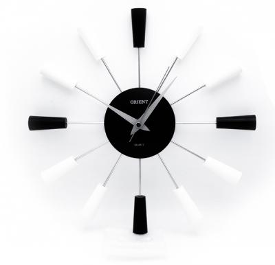 Orient sunrise black/w wall clock, OC-SUNR-002