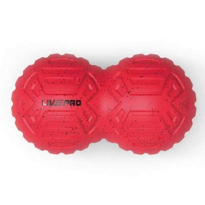 Livepro Peanut Massage Roller 19.4x10.6cm LP8509, Red