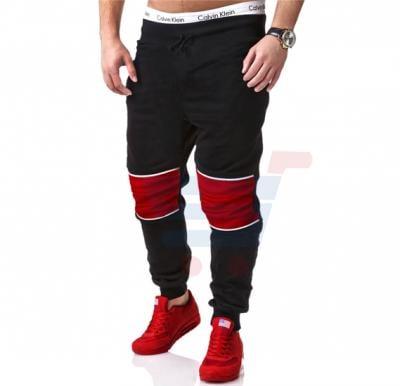 Mens PATCH Sporty Designer Trouser Black - 1859 - S