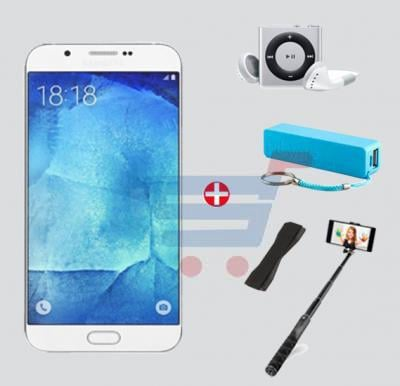 Bundle Offer Enes G9 3G Smartphone, 4GB Storage, 1GB RAM, MP3 Player, Power Bank, Selfie Stick & Mobile Grip, Grey