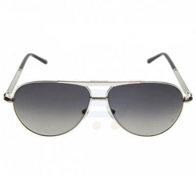 Mont Blanc Aviator Black Frame & Black Mirrored Sunglasses For Men - MB517S-16B