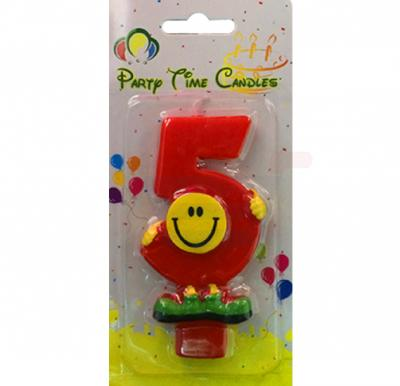 Party Time Smiley Candle 5 M082