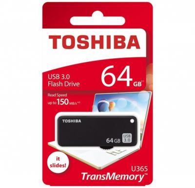 Toshiba U365 Trans Memory USB Flash Drive 64GB Black THNU365K0640E4