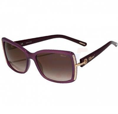 Chopard Oval Opaline Purple Frame & Brown Gradient Mirrored Sunglass For Women - SCH126S-0903