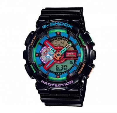 Casio G-Shock Crazy Color Watch For Men, GA-110MC-1ADR
