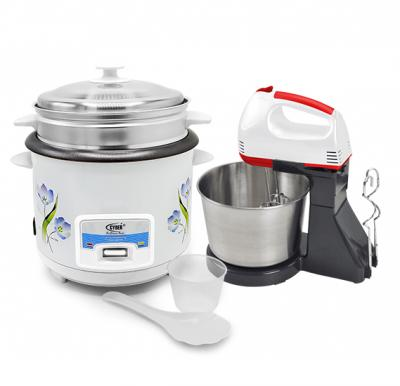2 in 1 Offer Multi-Functional Automatic Rice Cooker with Olympia Hand Mixer With Stand