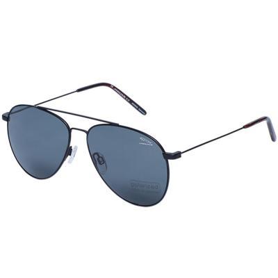 Jaguar 37456 Black Aviator Sunglasses, Size 58