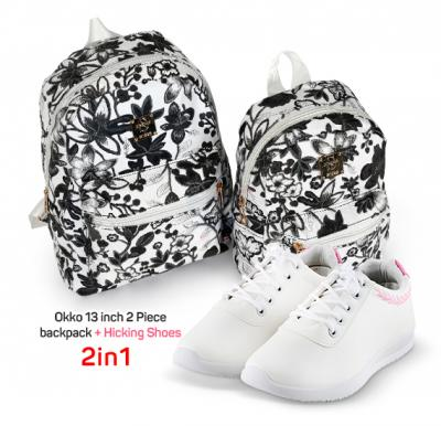 2 in 1 Limited Offer, Okko 13 inch 2 Piece backpack plus Hicking Shoes Size 36
