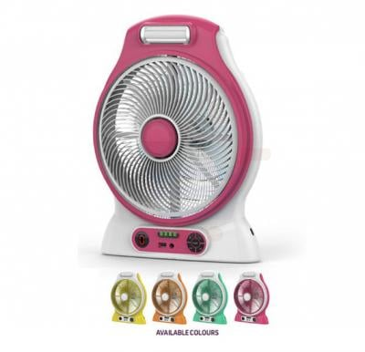 Geepas 12 Inch Rechargeable Fan with LED Light - GF9588