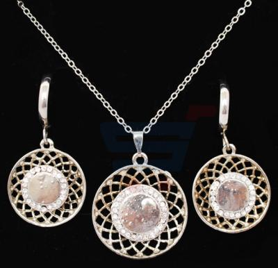 A&H 18K Gold Plated Jewelry Set With Cyrstal Stones  - 1A140