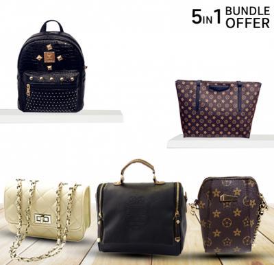 5in1 Girls stylish Bags Bundle