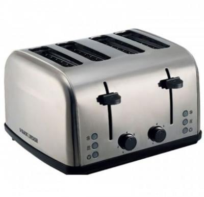 Black & Decker 4 Slice Parallel Slot SS Toaster with Dual Control, ET304-B5
