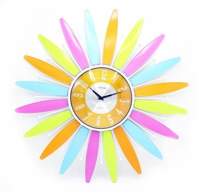Orient spider multi color petal clock, OC-T-2713