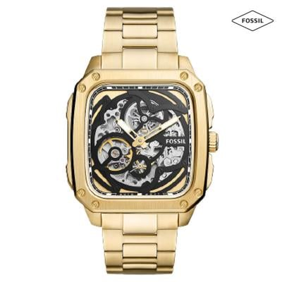 Fossil Bq2573 Automatic Gold Tone Stainless Steel Watch