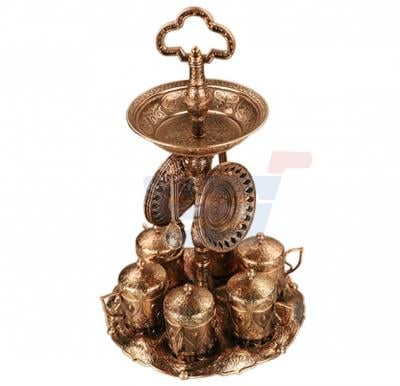 RoyalFord Antique 6Pcs Coffee Cup Set With Stand, RF8358
