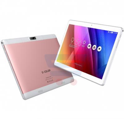 S-Color U100 Tablet, 9.6 inch Display, Android 7,3GB Ram 32GB Storage, Quad Core, 4G LTE, Dual Camera,Dual Sim Rose Gold