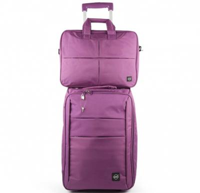 Okko 2in1 Foldable trolley with laptop bag -Purple-36421