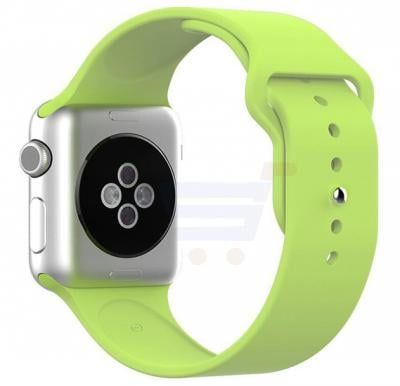 Silicone Sport Replacement Watch Band For Apple Watch 42MM Green