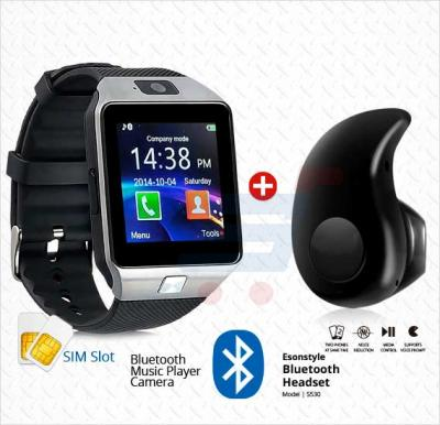 Bundle Offer! MidSun M9 Smart Watch with SIM Slot, Camera, Bluetooth & Get Esonstyle Z 530 40 Mini Ultra-small Stereo Bluetooth Earbud FREE