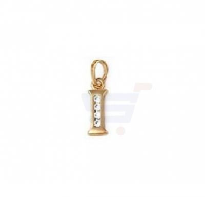 Xuping Necklace Pendant Gold Plated Letter  I