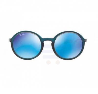 Ray-Ban Round Blue Frame & Blue Mirrored Sunglasses For Unisex - RB4222-61676Q