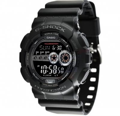 Casio G-Shock Digital Black Dial Mens Watch - GD-100-1BDR