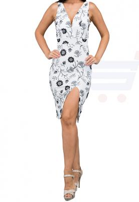 WAL G Italy Full Embroidered Midi Formal Dress White - WG 6230 - XXL