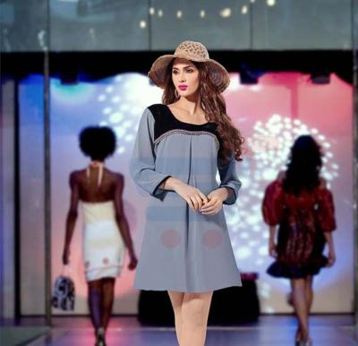 Falak Kurtis Fully stiched with Inner Grey  - XXL