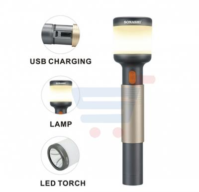 Sonashi 2 In 1 Rechargeable Led Torch & Lamp, SLT-600
