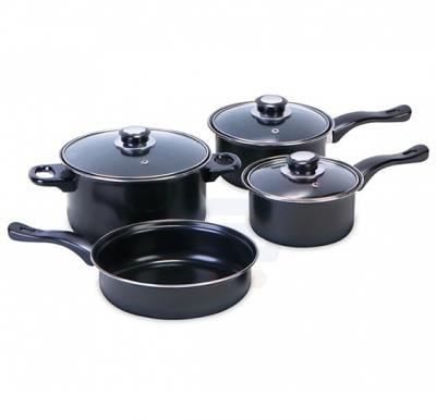 7 Pcs Non-stick Hard Cookware Set