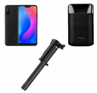 2 In 1 Xiaomi A2 Lite 64gb Mobile With Free 10,000 Mah Power Bank  And Wireless Selfie Stick