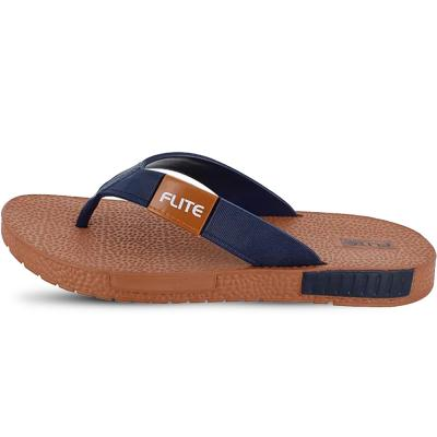 Flite Gents Homeuse Slippers, FL-330, Tan Navy, Size 42