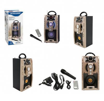 Sonashi Rechargeable Bluetooth Speaker Gold, SBS-707