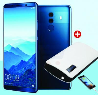 2 in 1 Bundle Lenosed Mate 10 4G Smartphone - Black And Power Box 15000 mAh Power Bank