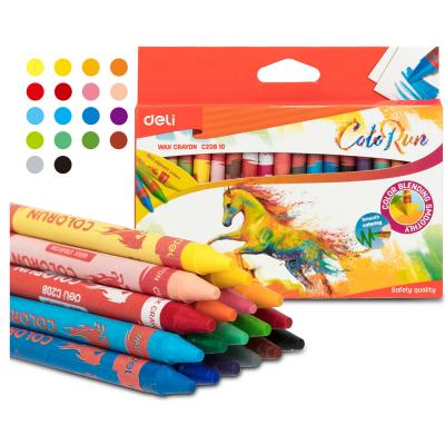 Deli Wax Crayon 12 Colors Jumbo, EC20900