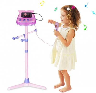 Kids Karaoke Microphone Musical Toy with Adjustable Stand