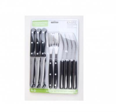 Cleenwood 12 Pcs Knife Set ( 6 Pcs Knife , 6 Pcs Fork ) - CW-655