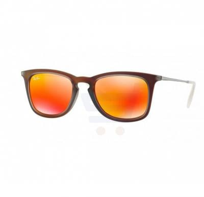 Ray-Ban Wayfarer Brown Frame & Red Mirrored Sunglasses For Men - 0RB4221-61676Q-50