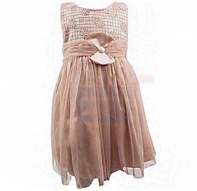 Amigo 7  Children Dress  Pink Champagne - 6-9M - 1306