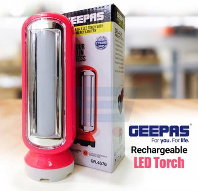 Geepas Rechargeable LED Torch with Emergency Lantern-GFL4676
